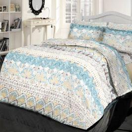 Комплект постельного белья Креп Евро, наволочка 50х70 см 2шт, дизайн 8156