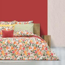 Комплект постельного белья Сова и Жаворонок Перкаль 2-спальный Фрукты, наволочка 50х70см, перкаль
