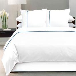 Комплект постельного белья DeLUX Евро, наволочка 70x70см 2шт, белый, сатин