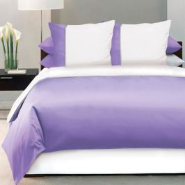 Комплект постельного белья DeLUX Евро, наволочка 70x70см 2шт, фиолетовый, сатин