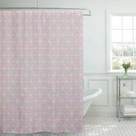 Занавеска для ванной комнаты Geometry Pink 180х180см, полиэстер 6128044