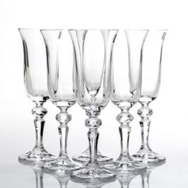 Набор бокалов для шампанского CRYSTALITE BOHEMIA Роза (Фалко) 6шт 150мл, стекло, 40707/150S