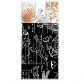 Фартук ГРЕТТА Версаль, 60х70см, рогожка, черный, 100% хлопок, 593344