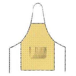Фартук MONA LIZA Melissa Two желтый, 70х65см, 1 карман, хлопок 100%