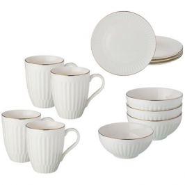 Набор столовый LEFARD Вайт 12 предмета, 4 персоны, фарфор, 86-2262