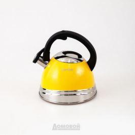 Чайник со свистком Rondell Sole, 3,0 л, нержавеющая сталь, RDS-908