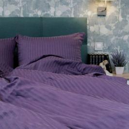 Комплект постельного белья Stripe 1, 5-спальный, наволочка 50х70см 2шт, сиреневый, сатин-страйп
