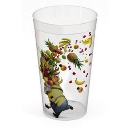 Стакан Миньоны фрукты/гребля 400мл, пластик