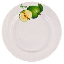 Тарелка десертная Зеленое яблоко 17,5см, фарфор