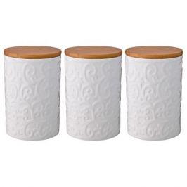 Набор банок д/сыпучих продуктов 3шт, 0,75л, керамика