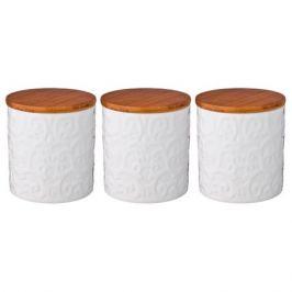 Набор банок д/сыпучих продуктов 3шт 0,5л, керамика