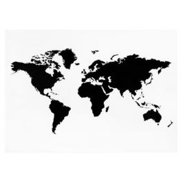 Наклейка меловая Карта мира, размер: 70х50см