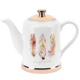 Чайник Перья 1л, керамика