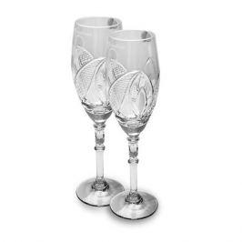 Набор бокалов для шампанского НЕМАН СЗ Совет да любовь 2шт 230мл хрусталь, 8109 23158
