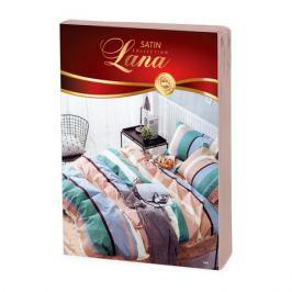 Комплект постельного белья Lana Сатин 1,5-сп., р-р: под. 150х215 см, прост. 180х220 см, нав. 70х70 2шт., диз.064, сатин,100%хл, 125гр/м2