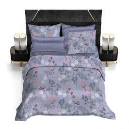 Комплект постельного белья Bravo Сатин Евро Фиби, р-р: прост. 220х240см, под. 200х220см, нав. 50х70см 2шт, сатин, 100% хл,115 гр/м2