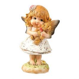 Фигурка декоративная Фея с мишкой, 8х6х14см, полистоун