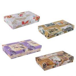 Коробка подарочная прямоугольная 33,5х25х14,5см, бумага цветная