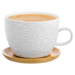 Пара чайная РОЗЫ 500мл, фарфор