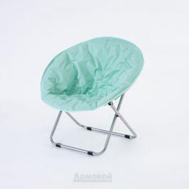 Кресло Луна Мятный, 85х80х75/41 см, оксфорд/сталь