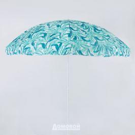 Зонт пляжный Листья, 240 см, 8 спиц, полиэстер/сталь