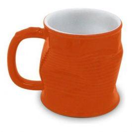 Кружка Мятая оранжевая, 320мл, керамика