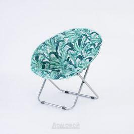 Кресло Луна Листья, 85х80х75/41 см, оксфорд/сталь