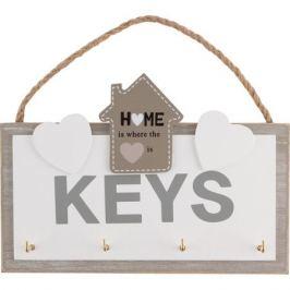 Ключница Волшебная страна с подвесом, размер: 20,5х13,7см, 4 крючка, мдф