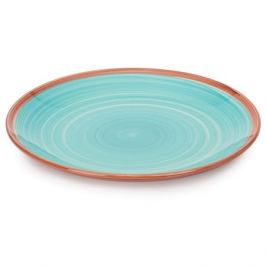 Тарелка обеденная Wood Blue 27см, керамика
