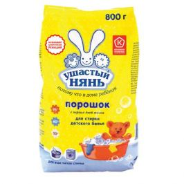 Порошок стиральный детский УШАСТЫЙ НЯНЬ 800г