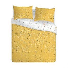 Комплект постельного белья СТМ Simplify 2-сп. Yellow terrazzo, р-р: под.175х214см, прост.180х214см, нав.50х70см 2шт, поплин,100%хл,110гр/м2