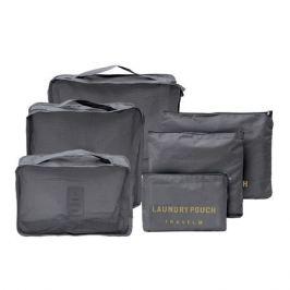 Органайзеры д/багажа HOMSU, комплект из 6шт., серый