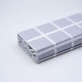 Простыня СТМ Поплин Евро, размер: 200х220см, поплин, 100%хл, 115гр/м2, клетка, серый