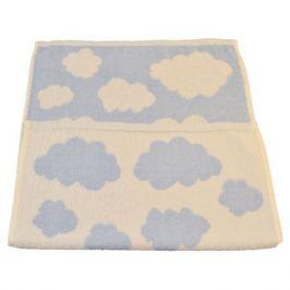 Полотенце махровое Облачко, размер: 48х70 см, пестротканое, голубой, 430 гр/м2, 100%хлопок