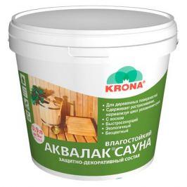 Состав защитно-декоративный Аквалак сауна б/цв 0,9 л KRONA