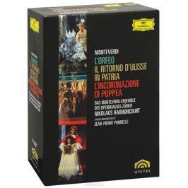 Monteverdi, Nikolaus Harnoncourt: L'Orfeo / Il Ritorno d'Ulisse In Patria / L'incoronazione Di Poppea (5 DVD)