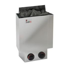 Серия Nordex: Электрическая печь SAWO NORDEX MINI NRMN-30NB-Z (3,0 кВт, встроенный пульт, внутри оцинковка, снаружи нержавейка)