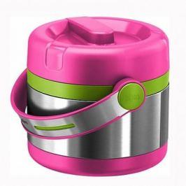Термос детский для еды 0,65л Mobility Kids EMSA, розовый с зеленым