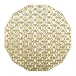 Салфетка подстановочная, диаметр 36 см, Brass, винил, серия Kaleidoscope, 100488-004, CHILEWICH, США