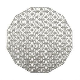 Салфетка подстановочная, диаметр 36 см, Gunmetal, винил, серия Kaleidoscope, 100488-001, CHILEWICH, США