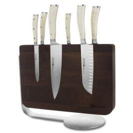 Набор кухонных ножей 6 штук на деревянной, магнитной подставке, серия Ikon Cream White, WUESTHOF, 9884-0, Золинген, Германия