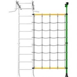 Детский спортивный комплекс Romana ДСКМ-1-8.02-45 Комплект с канатным лазом распорный зелёно/желтый (дополнительная секция)