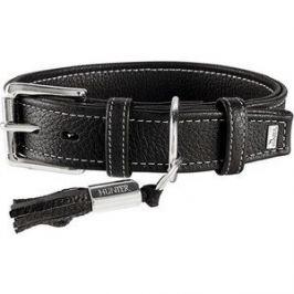 Ошейник Hunter Collar Cannes 45 (29-37см)/2,8см натуральная кожа черный для собак