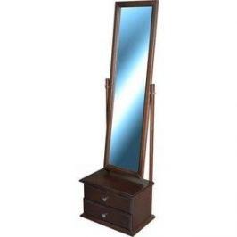 Зеркало Мебелик Селена средне-коричневый с тумбой