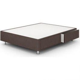 Кроватный бокс Lonax Box Maxi Draiwer (с ящиками 60x60) Эко Кожа (Стандарт) 200x200 коричневый