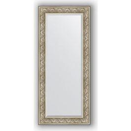 Зеркало с фацетом в багетной раме поворотное Evoform Exclusive 70x160 см, барокко серебро 106 мм (BY 3580)