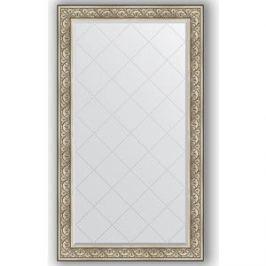 Зеркало с гравировкой поворотное Evoform Exclusive-G 100x175 см, в багетной раме - барокко серебро 106 мм (BY 4424)
