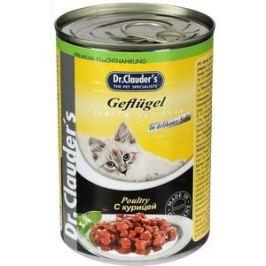 Консервы Dr.Clauder's Poultry in Delicate Sauce с курицей кусочки в соусе для кошек 415г