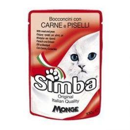 Паучи Simba Petfood Cat Chunkies with Meat and Peas с мясом и горохом паштет для кошек 100г