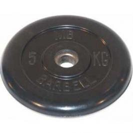 Диск обрезиненный MB Barbell 31 мм. 5 кг. черный